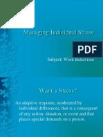 14. Managing Individual Stress