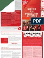 Prix Theses 2013