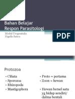 Bahan Belajar Respon Parasitologi Ug