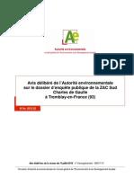 Avis Delibere Autorite Environnementale 120711 ZAC Sud CDG Tremblay