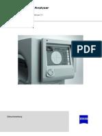 Gebrauchsanweisung / Manual für den Humphrey Field Analyzer (HFA) IIi von Carl Zeiss Meditec