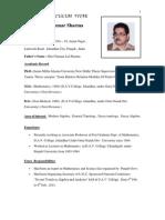 Bio-Data ( DR.P.K.sharMA) as on 1st Novemeber 2012