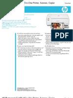 HP Photosmart C4480 Printer DataSheet