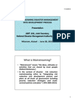 Minstreaming of DM Into Development Process With Ref to Mizoram - 28 June 2010 [Compatibility Mode]