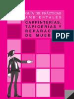 GUÍA DE PRÁCTICAS AMBIENTALES - CARPINTERÍAS