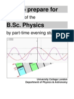 PT Physics BSc Degree Preparation 2000 (UCL)