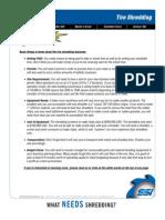 Scrap Tire Shredding Information
