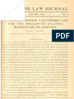 PLJ Volume 4 Number 6 -01- Jose a. Espiritu - A Proposed Uniform Partnership Law for the Philippine Islands
