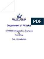 ASTM052 Extra-Galactic Astrophysics Notes 1 of 6 2008 (QMUL)