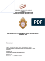 Plan Operativo Esc. Odontologia 2012