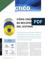 Cómo crear CD de recuperación del sistema