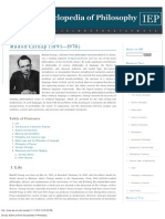 Carnap, Rudolf [Internet Encyclopedia of Philosophy]