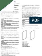 AVALIAÇÃO DE MATEMÁTICA geometria