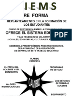REFORMA DE LA EDUCACIÓN MEDIA SUPERIOR