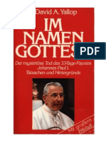 David Yallop Im Namen Gottes Der Mysterioese Tod Des 33Tage Papstes Johannes Paul I