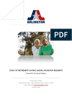 Study of Retirement Savings Among Arlington Residents