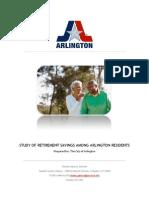 Study of Retirement Savings Among Arlington Residents