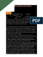 Resenha - Microfísica do Poder - Foucault
