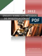 MÉTODOS DE LA INVESTIGACIÓN JURÍDICA