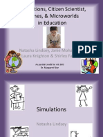 Simulations, Citizen Scientist, Games, & Microworlds in Education