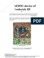 The A.E.I.O.U-device of Frederick III