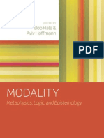 Bob Hale, Aviv Hoffmann-Modality Metaphysics, Logic, And Epistemology(2010)