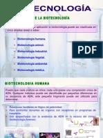 Clasificación de la biotecnologia