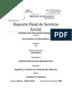 Reporte Final Servicio Social