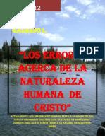 -Los Errores Acerca de La Naturaleza Humana de Cristo- -Carta (1)