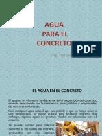 Clase 03-Agua Para Concreto