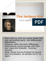 Chapter 11 Section 1 the Jackson Era
