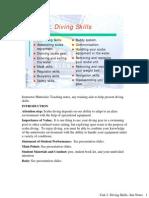 Unit 3- Diving Skills