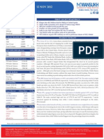Go Ahead for Equity Morning Note 12 November 2012-Mansukh Investment and Trading Solution