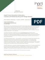 HPD PRess Release 11-09-12
