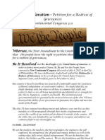 A New Declaration From the Continental Congress 2.0