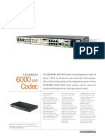 Videoconferencing Tandberg 6000 Mxp Codec Data Sheet