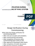 HVAC Design Verfication During Commisisoning