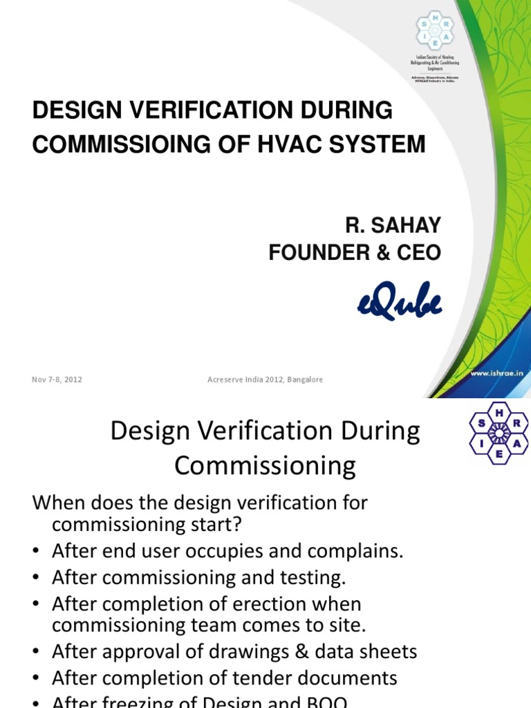 Hvac Design Verfication During Commisisoning Mechanical Fan Drawing Reading Electrical Engineering