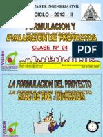 Clase 4 Pre Inversion Evaluacion y Viabilidad 2012