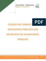 Código de conducta de servidores públicos del municipio de Huazalingo