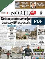Periodico Norte de Ciudad Juárez 12 de Noviembre de 2012