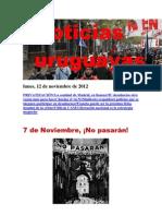 Noticias Uruguayas Lunes 12 de Noviembre Del 2012