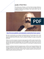 History And Biography Of Karl Marx