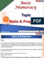 Basic Numeracy Ratio Proportion