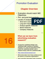 Ch16 - Evaluating an Integrated Mktg Program - Clow 2ed