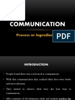 Communication, Process 7 Ingredients