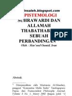Epistemologi Suhrawardi Dan Allamah Thabathabai