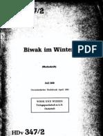 HDv 347-1 Biwak Im Winter (Merkschrift) (Jul 1959)