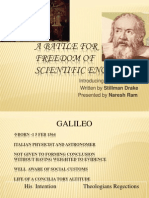 A Battle for Freedom of Scientific Enquiry