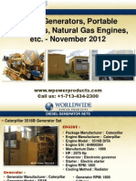 Diesel Generators, Portable Generators, Natural Gas Engines, Etc. - November 2012